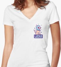 Spacedog Laika Women's Fitted V-Neck T-Shirt
