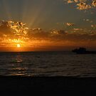 Sunset over Lancelin by adbetron