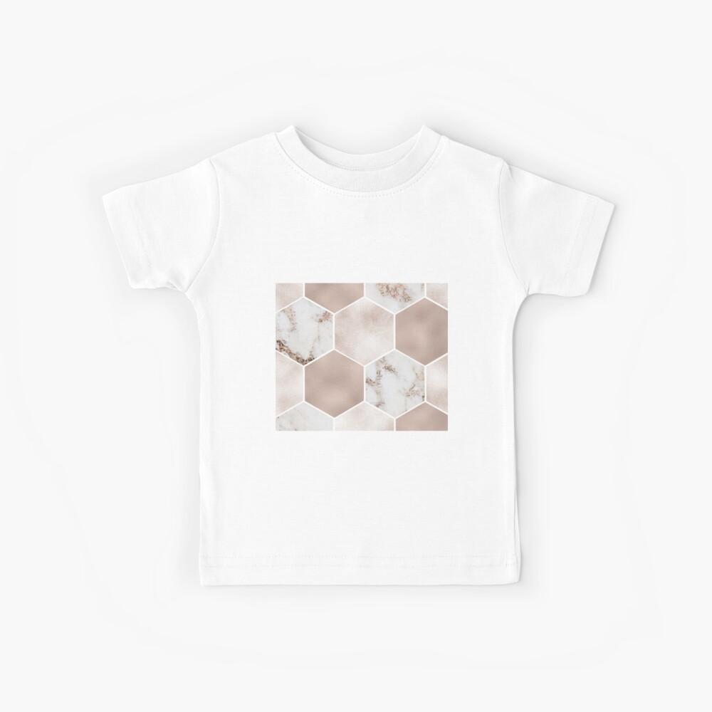 Artico Marmor Rose Gold Perle Sechsecke Kinder T-Shirt