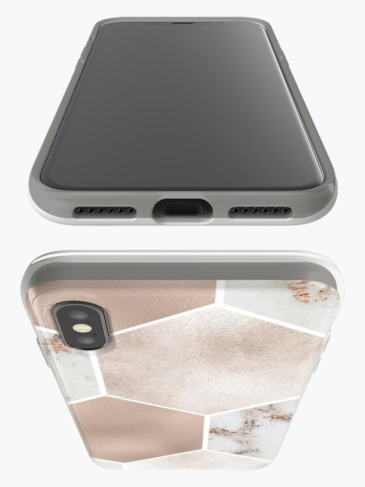 Alternative Ansicht von Artico Marmor Rose Gold Perle Sechsecke iPhone-Hülle & Cover