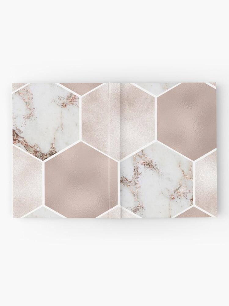 Alternative Ansicht von Artico Marmor Rose Gold Perle Sechsecke Notizbuch
