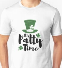 St. Patricks Day Shirt Men Women Irish Party It's Patty Time Unisex T-Shirt