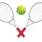 Tennisball und Schläger von AnnArtshock