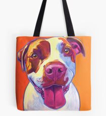 Happy Pit Bull - Slobbery Smiling Colorful Pitbull Dog Tote Bag