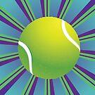 Tennisball-Hintergrund 2 von AnnArtshock