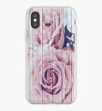 Vintage Shabby Chic Dusky Pink Rose Roses  iPhone Case
