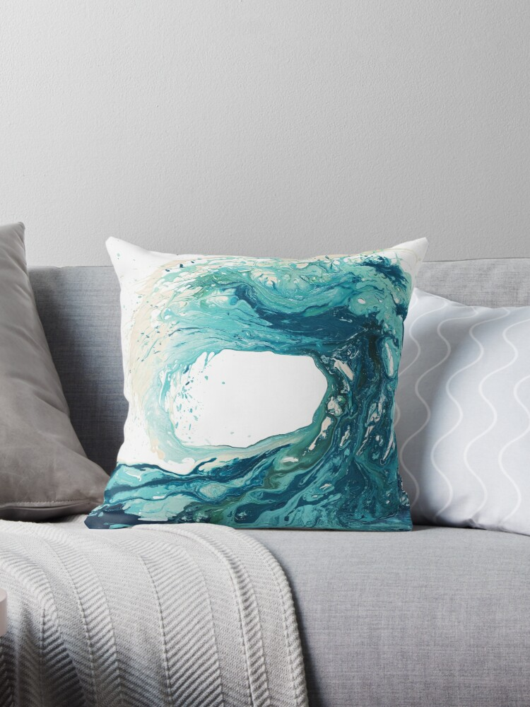 Ocean Wave Art Print Picture - Turquoise Sea Surf Beach Decor  by Kate Shephard