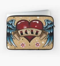 Tattoo Heart with Wings Laptop Sleeve