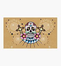 Oldschool Tattoo-Skull Photographic Print