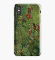 JOHN LA FARGE 1835 - 1910 RED HOLLYHOCKS iPhone Case/Skin