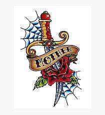 Oldschool Tattoo-Dagger Photographic Print