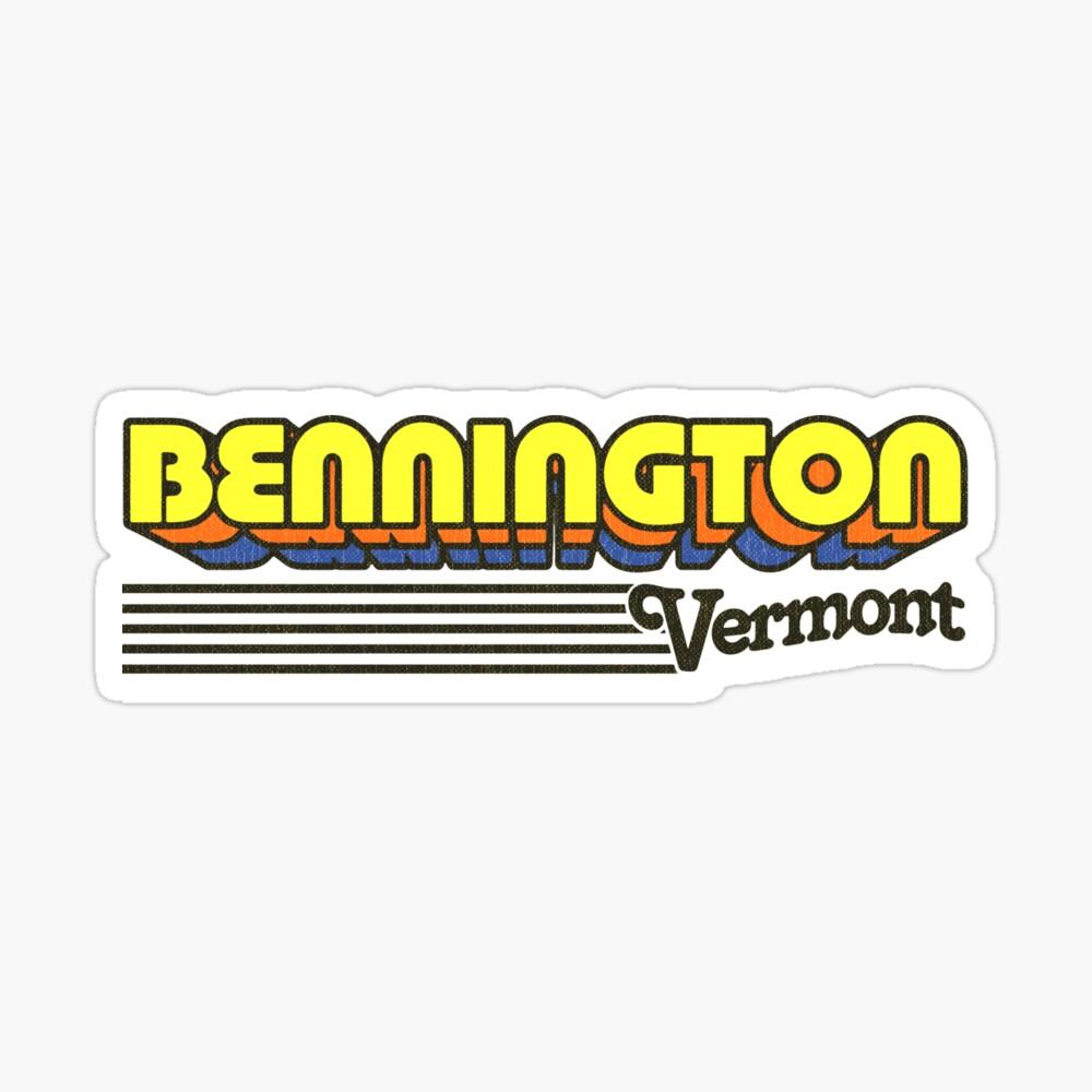 Bennington, Vermont   Retro Stripes Sticker