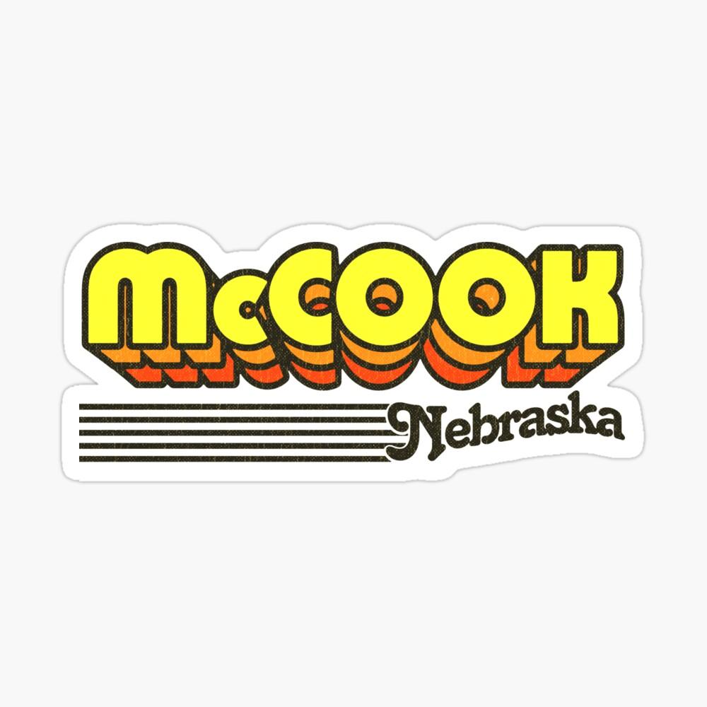 McCook, Nebraska | Retro Stripes Sticker