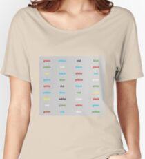 Stroop-Test englisch Baggyfit T-Shirt