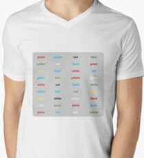 Stroop-Test englisch T-Shirt mit V-Ausschnitt für Männer