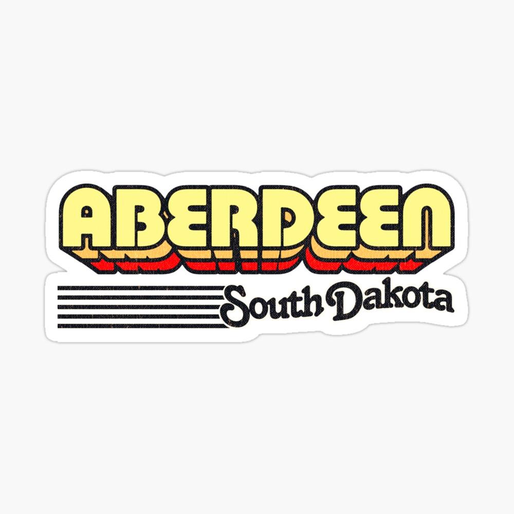 Aberdeen, South Dakota   Retro Stripes Sticker