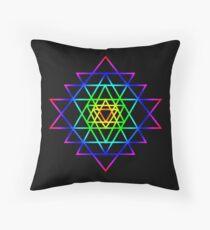 Vibrant Sri Yantra Sacred Geometry Floor Pillow
