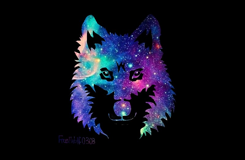 Quot Galaxy Wolf Silhouette Quot Laptop Skins By Frostwolf0303