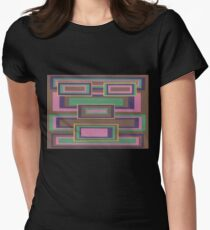 I Hit Big (Facemadics abstract face colorful contemporary) Fitted T-Shirt