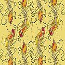 Abstract Flower & Fire by bettinadreier75