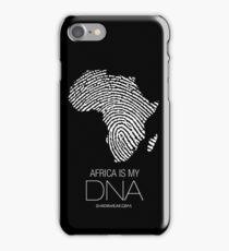 Africa is my DNA (black) iPhone Case/Skin