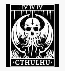 CTHULHU - TAROT CARD - LOVECRAFT Photographic Print