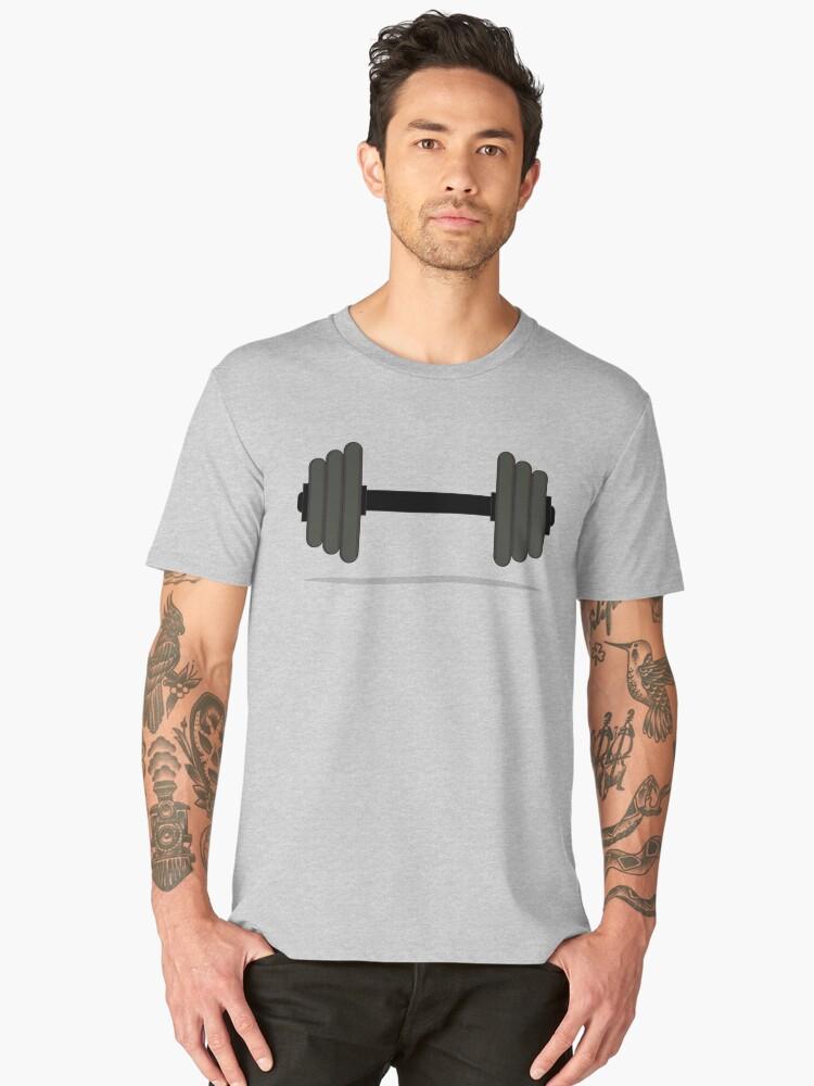 Floating Dumbbell Men's Premium T-Shirt Front