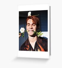 KJ Apa Greeting Card