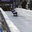 Skeleton Racing Park City U.S. Katie Uhlaender World Cup Champion by Judson Joyce