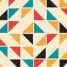 «Patrón de triángulos de colores de mediados del siglo» de La Chic