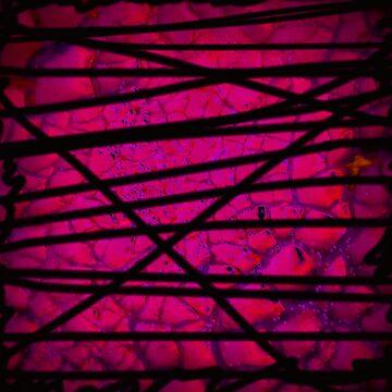 Experimentell - pink structure - Glitter lila - stripes black von mwart