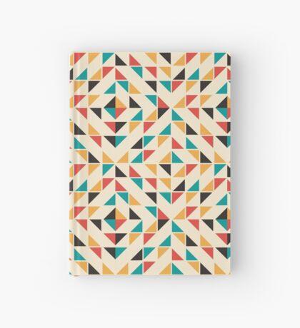 Patrón de triángulos de colores de mediados del siglo Cuaderno de tapa dura
