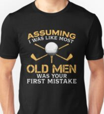 Old Men Golf Lover Unisex T-Shirt