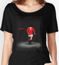 simply the...... Best. George Best Man Utd Legend  Women's Relaxed Fit T-Shirt