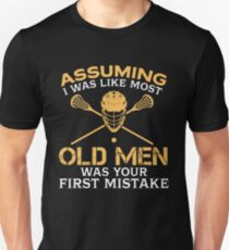 Old Men Lacrosse Lover Unisex T-Shirt