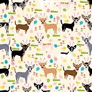 Chihuahua dog breed easter bunny spring easter eggs dog pattern gifts chihuahuas by PetFriendly