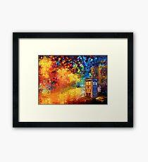 British Police public call box Rainbow abstraction Framed Print