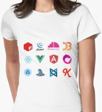 Javascript frameworks and libraries Women's Fitted T-Shirt