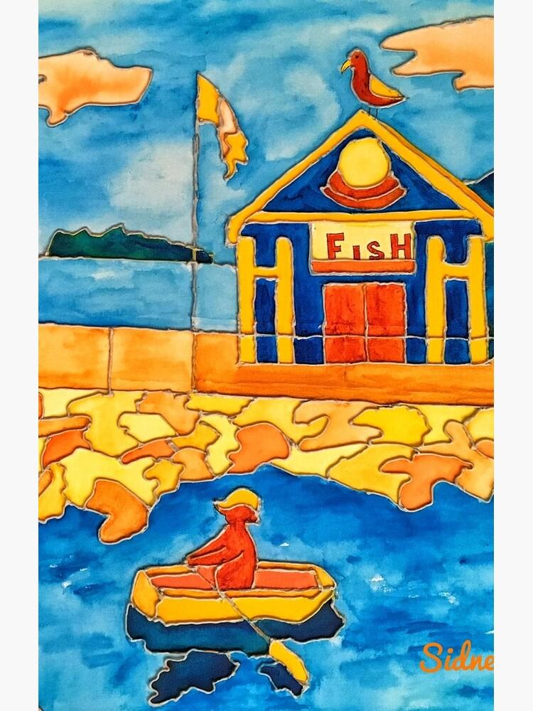 CUTE ROWING FUNNY QUOTE OCEAN ART by nicolafurlong
