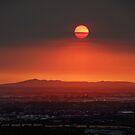 bushfire sunset by simon gleeson