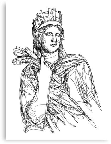 Tyche Greek Goddess by gatestucker