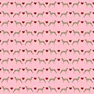 Whippet love hearts dog breed pet portrait whippets pure breed dog gifts by PetFriendly