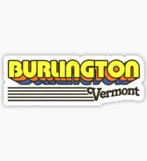 Burlington, Vermont | Retro Streifen Sticker