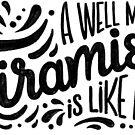 Tiramisu is like a hug - Hand calligraphy art by Miruna Illustration