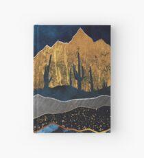 Cuaderno de tapa dura Luna del desierto de medianoche
