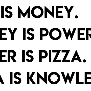 pizza is knowledge - parks and rec by cedougherty