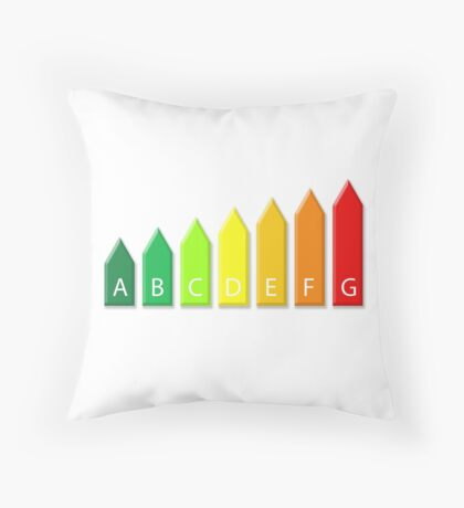 Energetic efficiency classes Throw Pillow
