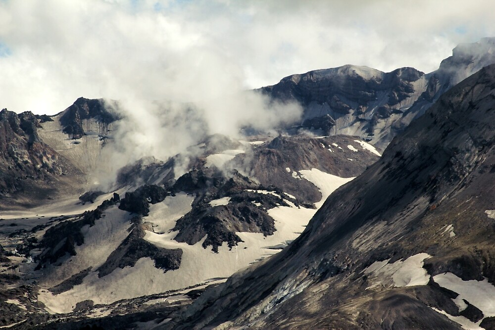 Mount St Helens lava dome closeup by Dawna Morton