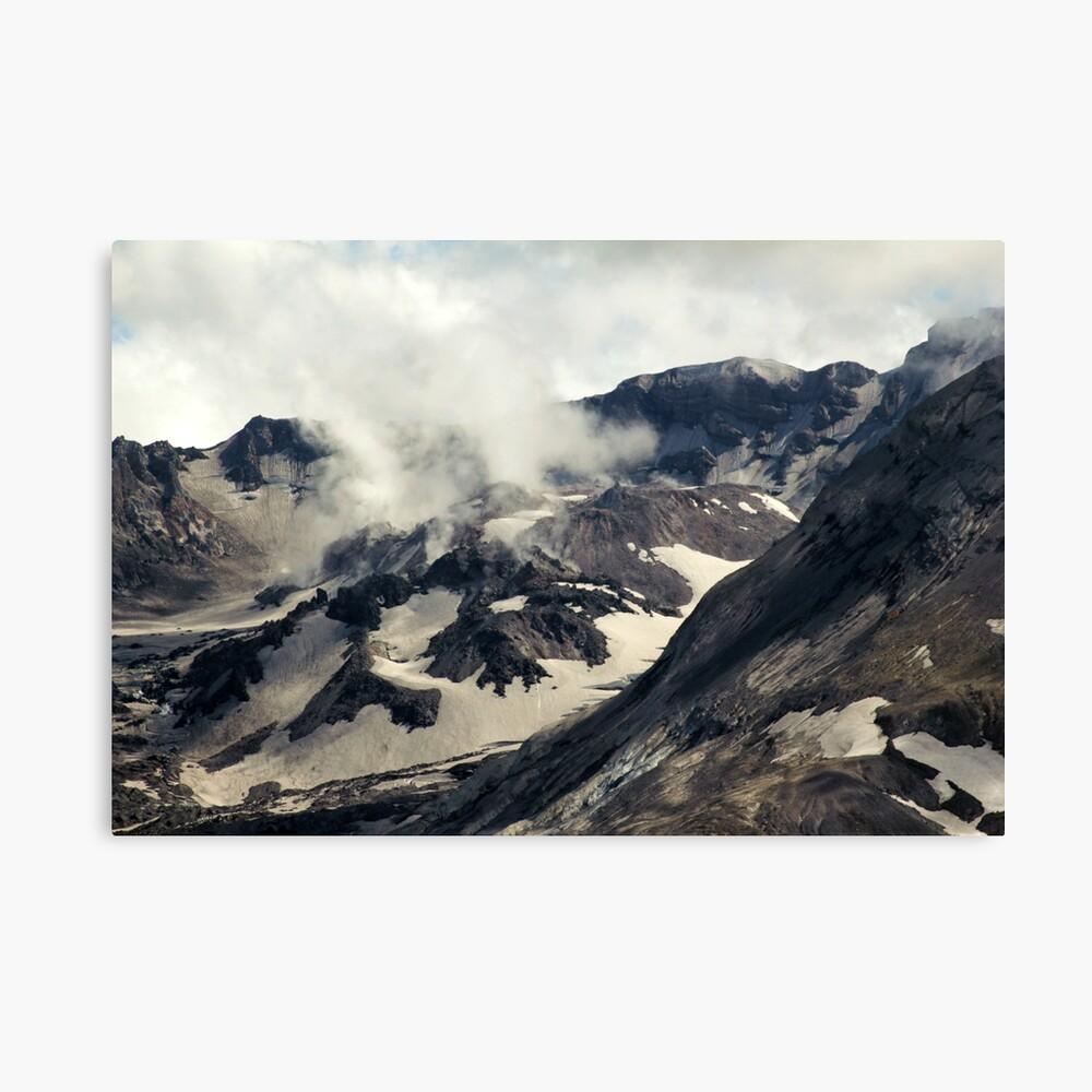 Mount St Helens lava dome closeup Canvas Print