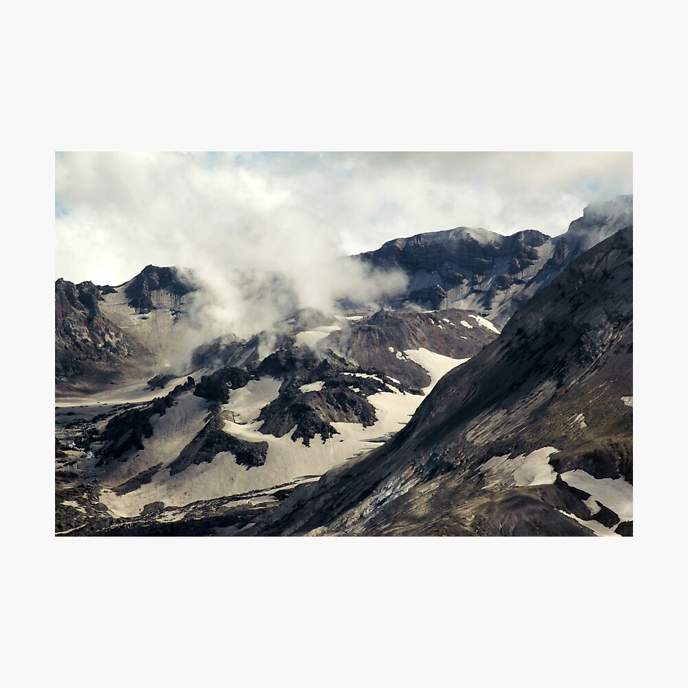 Mount St Helens lava dome closeup Photographic Print